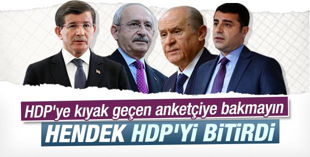 Son ankette HDP baraj altında kaldı