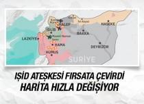 Suriye haritası değişiyor IŞİD ateşkesi fırsat bilip