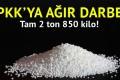 2 ton 850 kilo amonyum nitrat yakalandı