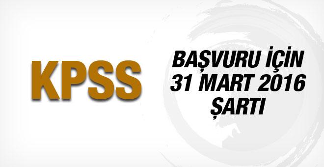 2016 KPSS Başvuru kılavuzu 31 mart