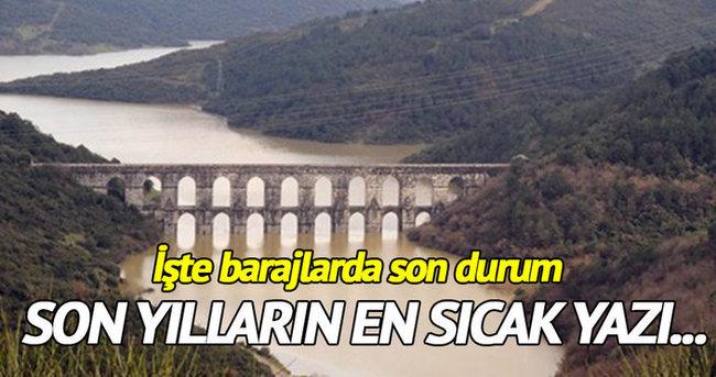 Barajlardaki son durum 80 yılın en sıcak yazı