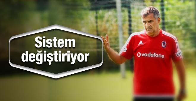 Şenol Güneş, Beşiktaş için sistem değiştiriyor