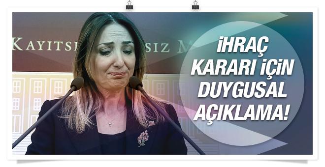 CHP'den ihraç edilen Nazlıaka gözyaşlarını tutamadı!