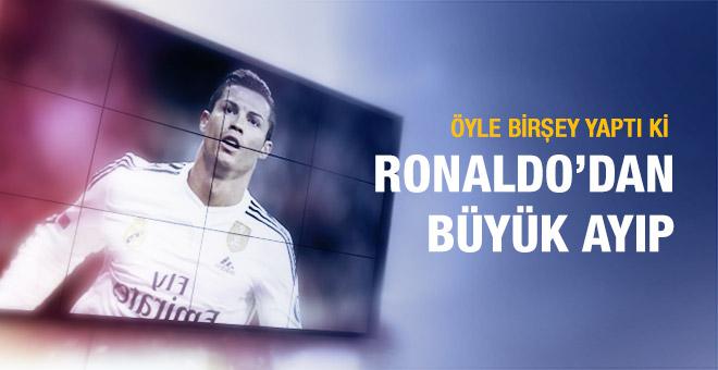 Cristiano Ronaldo küstahlığa devam ediyor