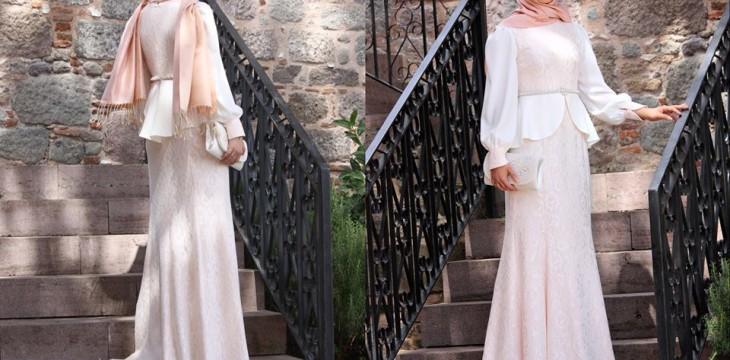 Tozlu Tesettür Abiye Elbise Modelleri