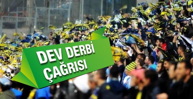 Fenerbahçeli taraftarlardan dev derbi çağrısı