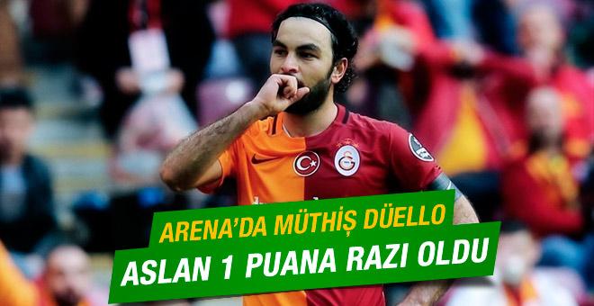 Galatasaray, Başakşehirden zar zor 1 puan aldı
