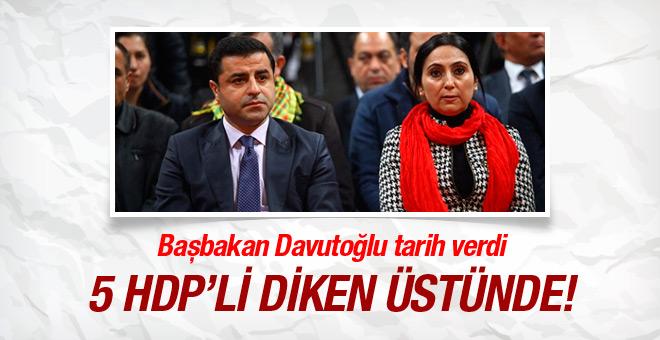 HDP'li isimlerin fezlekesini Meclis'te Başbakan açıkladı